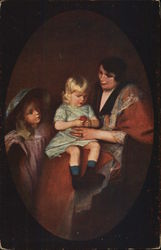 """The Orange"" - Woman seated with two children"