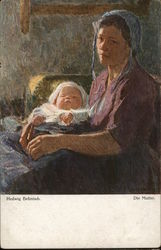 """The Mother"" by Hedwig Behnisch Postcard"