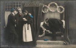 Germany - man kissing dead wife