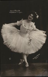 Woman Dressed in Tutu and Ballet Shoes Curtsying
