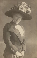 Klára Küry? Woman Wearing Suit and Large Hat with Flowers