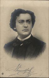 Clean-Shaven Dark-Haired Man with Black Bow Tie