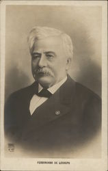 White-Haired Man with Moustache in Suit