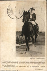 Leo Tolstoy on Horseback