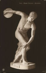 Sculpture Nude Man Throwing Discus