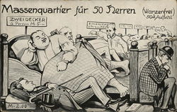 Sleeping quarters for 50 men - Political Satire