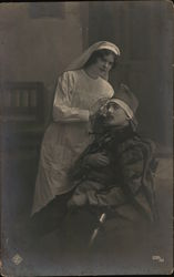 Nurse treating soldier