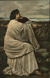 Woman Gazing at Sea, Chin in Hand