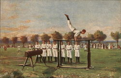 A Gymnast on the Parallel Bars