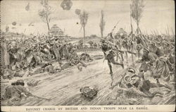 Bayonet charge by British and Indian troops near La Bassee