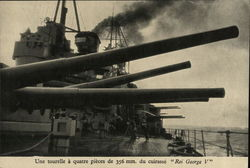 Gunboat with Long Cannons and Crew Members on Deck