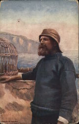 Bearded Man Wearing Hat Standing Near Water