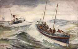 To the Rescue - Two Boats In Raging Waves