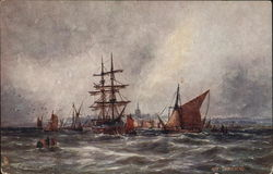 Off Gravesend - Ships at sea