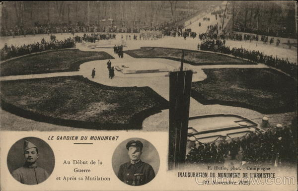 Inauguration of the Armistice Monument Compiegne France