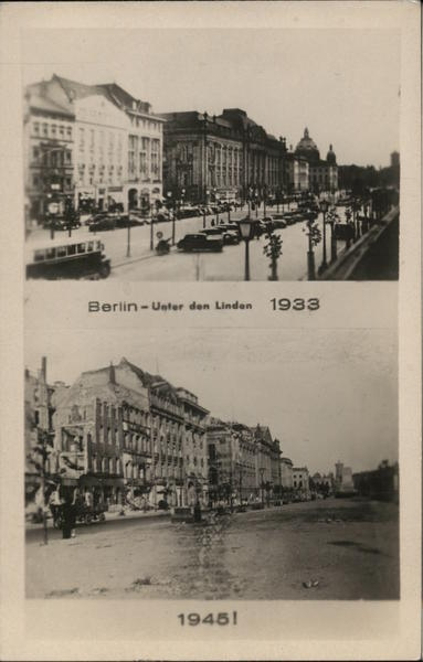 Unter den Linden 1933 and 1945 Berlin Germany