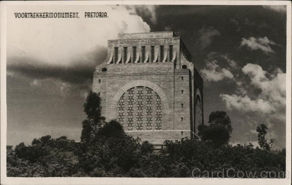 Voortrekker monument, Pretoria South Africa Postal History