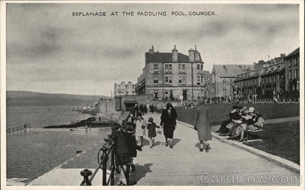 Esplanade at rhe Paddling Pool Gourock Scotland