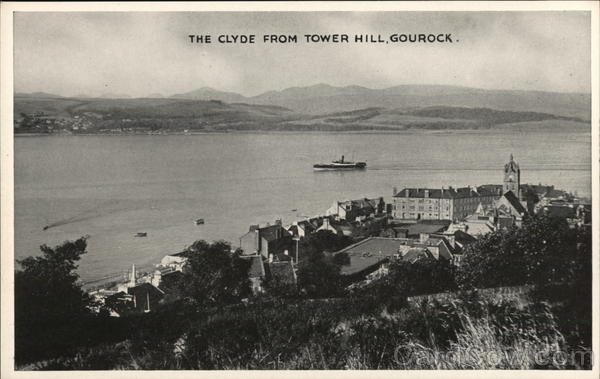 The Clyde from Tower Hill Gourock Scotland