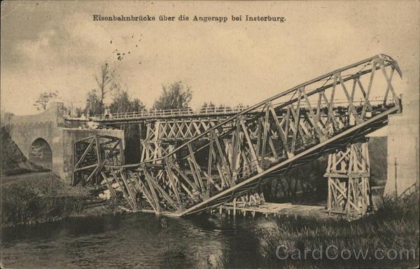 Railroad bridge over the Angerapp
