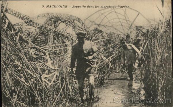 Frame of the Zepplin Felled in the Swamps Vardar Macedonia