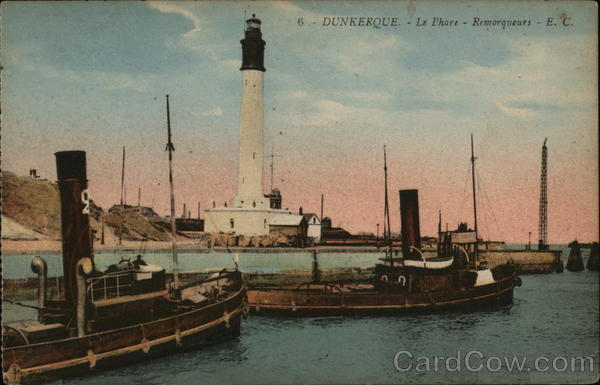 Lighthouse and Boats Dunkirk France