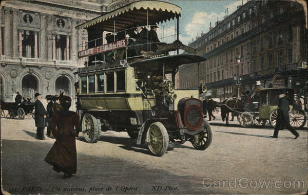 Place de l'Opera - Autobus Paris France Buses