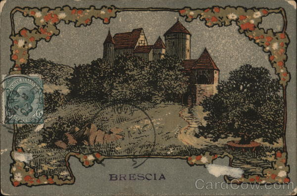 Brescia Italy Cancelled on Front (COF)
