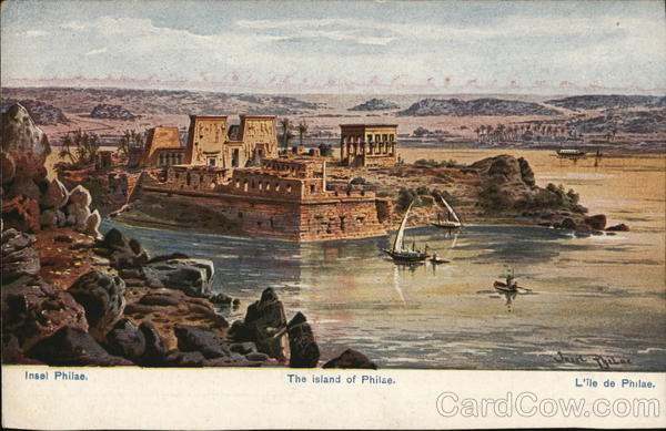 The island of Philae Egypt Africa