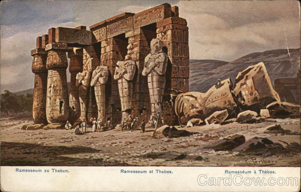 Ramesseum at Thebes Egypt Africa