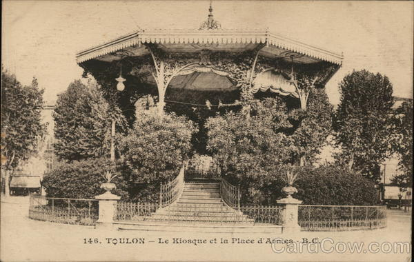 Toulon - Le Kiosque et la Place d'Armes - B.C. France