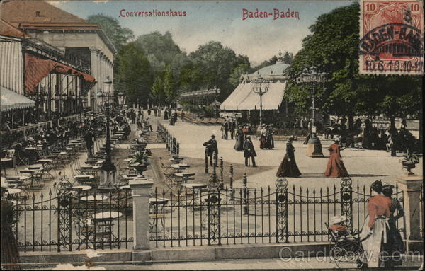 Conversationshaus Baden-Baden Germany Cancelled on Front (COF)