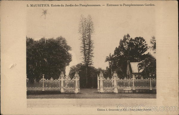 Enrance to Pamplemousses Gardens Mauritius Africa
