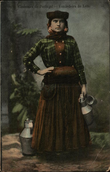 Costumes of Portugal - Milk Woman