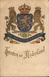 Coat of Arms of the Netherlands Postcard