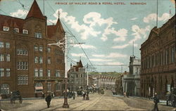Prince of Wales road & Royal Hotel Norwich