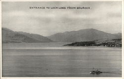 Entrance to Loch Long from Gourock Postcard