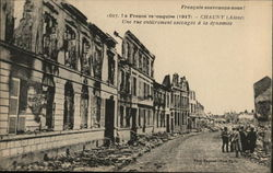 The city of Chauny in ruins 1917