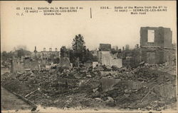 Battle of the Marne from the 6th to 12th sept.) - Sermaize - Les - Bains Main Road
