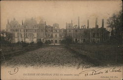 Fire at the Château d'Eu in Normandy