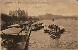 Thames Embankment and River Steamers
