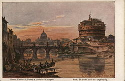 Rome, St. Peter's Basilica and Castle Sant'Angelo