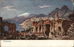 View of City, Ruins and Mount Etna