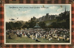 Band in West Princes Street Gardens Postcard