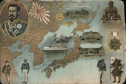 Map of Japan and Manchurua with Insets of His Majesty the Emperor