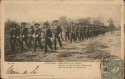 Soldiers Marching With Equipment - Elevator Advertising