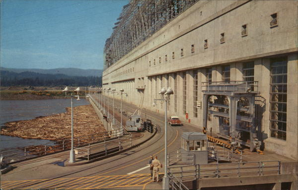Bonneville Dam Powerhouse Cascade Locks Oregon