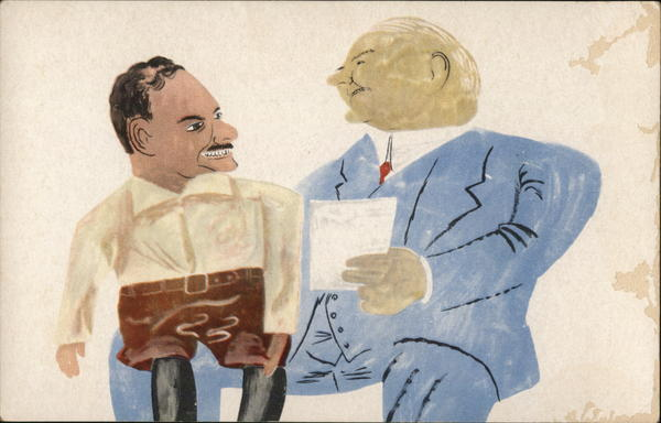 1944 Dewey and Hoover as Ventriloquist Ben Shahn Presidents