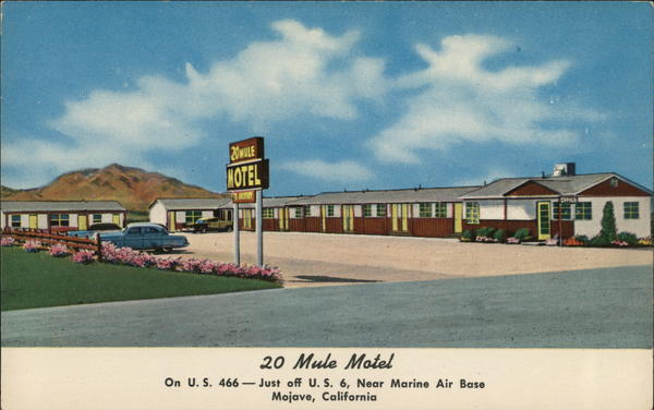 20 Mule Motel Mojave California