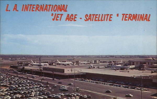 L.A. International Jet Age-Satellite Terminal Los Angeles California